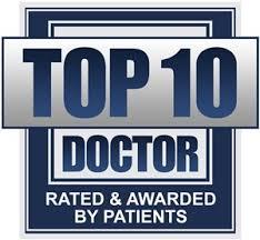 Top 10 doctors award logo